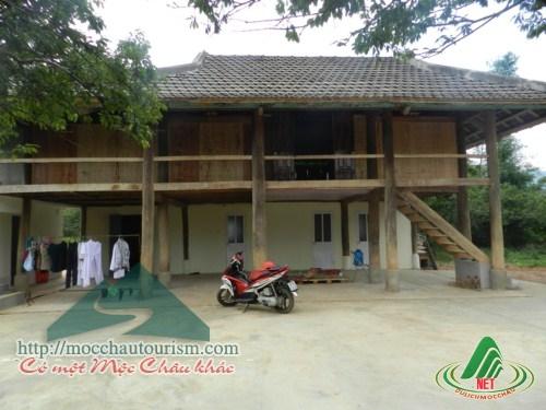 Nhà sàn Thuận The, rừng thông bản Áng
