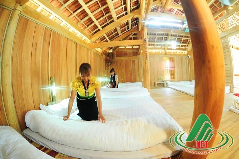 nhà sàn ở Mộc Châu